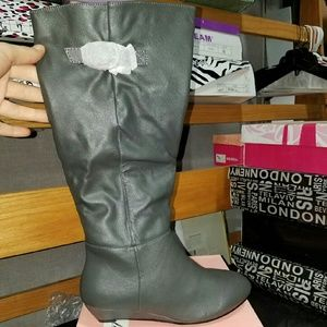 Tall Gray Boots