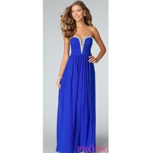 Strapless Evening Prom Gown JVN by Jovani