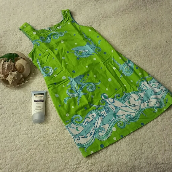 be3e591162e2 Lilly Pulitzer Other - Girls Lilly Pullitzer Pool Shark Shift Sz 10