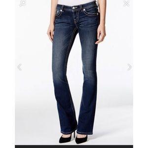 Seven7 Denim - Seven7 boot cut jeans, dark wash thick stitching