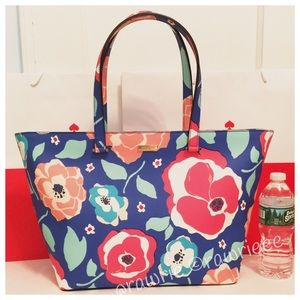 SALE New Kate Spade floral large travel zip tote
