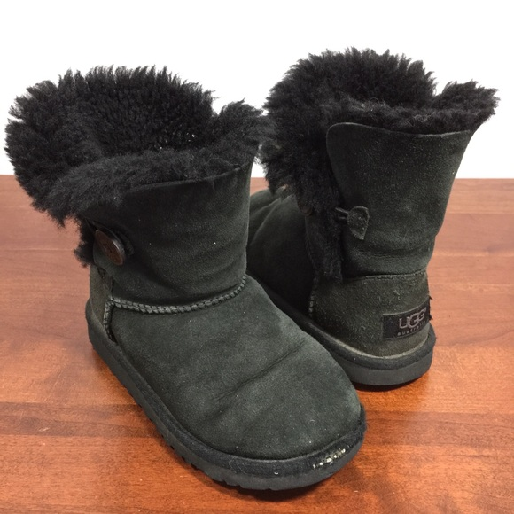 UGG - Girls UGG Bailey Button Black Boots Size 13 from Teresa's ...