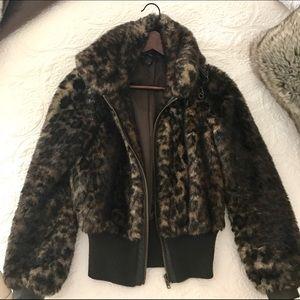 ZARA Faux Fur Leopard Jacket