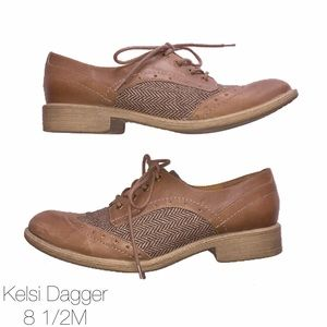 Kelsi Dagger Shoes - Kelsi Dagger Cary Brown Lace Up Oxfords 8 1/2
