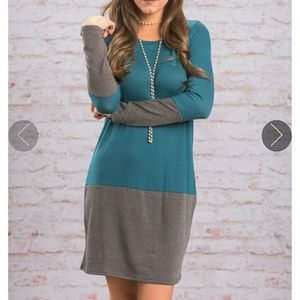 Dresses & Skirts - Teal/grey tunic dress