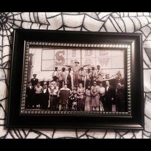 Sideshow circus art framed