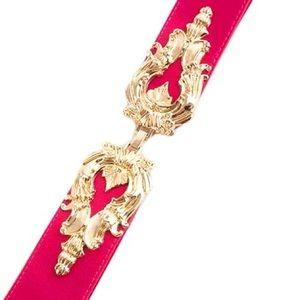 Accessories - NWT Fuchsia and Gold Waist Belt