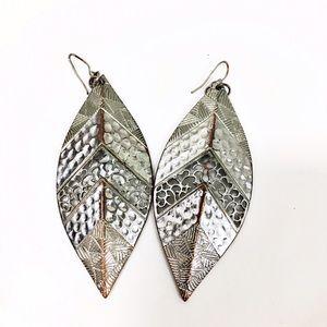 Jewelry - Beautiful Silver Feather Earrings
