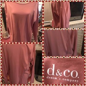 Denim & Co Tops - Like New Denim & Co Long Sleeve Crossover T Shirt