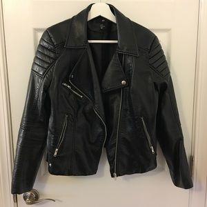 H&M Faux Leather Padded Biker Jacket