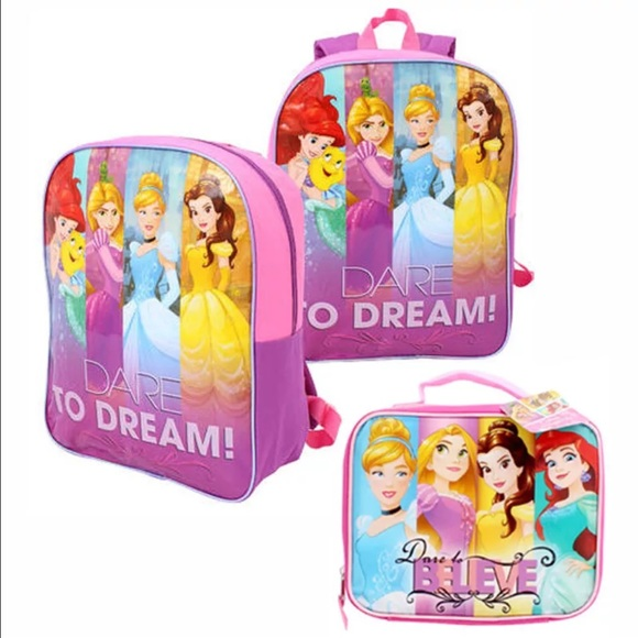 a508736ffb8 NWT Disney Princess Backpack and Lunch Bag