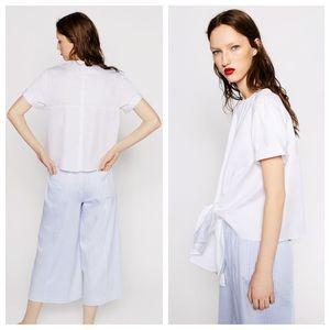 8ebc148b210 Zara Tops - ❤SALE ZARA STUDIO Knot Shirt Poplin NWT XS