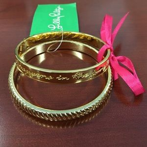 Lilly Pulitzer gold bracelet set