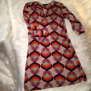 T-Bags Dresses & Skirts - t-bags retro print shirt dress gold buttons Med