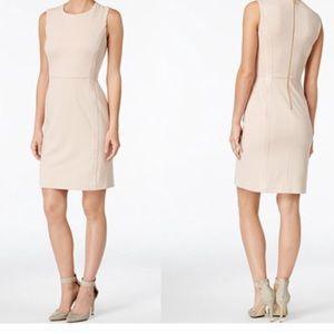 Calvin Klein Dresses & Skirts - NWT Blush Pink Faux Suede Sheath Dress