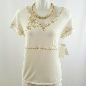 (B28) NWT Emma James top size large petite