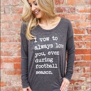NCAA Tops - I vow to always love you flowy long sleeve tee