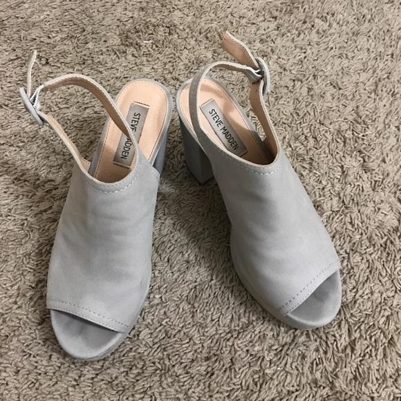 300b4eebf11 Steve Madden gray chunky heels
