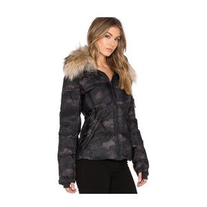 SAM. Jackets & Blazers - SAM NYC camo Asiatic Racoon fur freestyle jacket