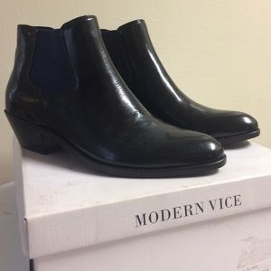 Modern Vice Black and Blue Ringo Boots