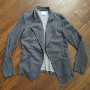 Caslon Cotton Knit Open Front Blazer Jacket