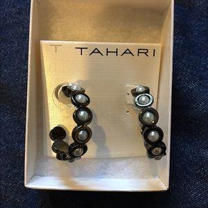 T Tahari Jewelry - Tahari Black and White Earrings