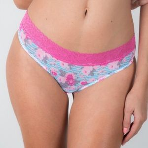 Bloomingdale's Other - ❗️1 LEFT Columbian Lace Trim Striped Floral Panty