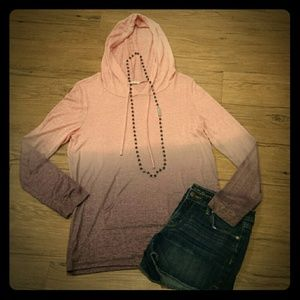 12 PM by Mon Ami Tops - Lite weight ombre hoodie