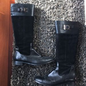 Black Aquatalia boots leather and suede