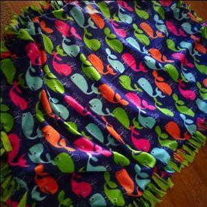 Other - ❌❌❌SOLD❌❌❌ Custom Homemade Whale 🐳 Fleece Blanket