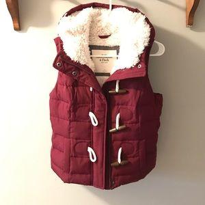 Abercrombie & Fitch burgundy vest