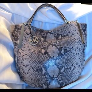 MICHAEL Michael Kors Handbags - Huge Michael Kors Python Snakeskin  Leather BAG