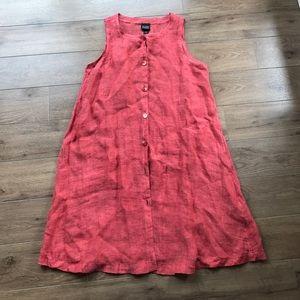 100% Italian linen Eileen fisher Sleeves dress