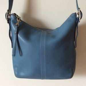 Coach Handbags - Cornflower blue Coach crossbody bag. EUC