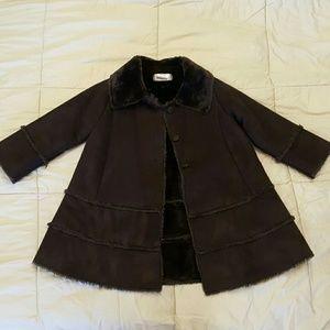 Girls brown dress coat