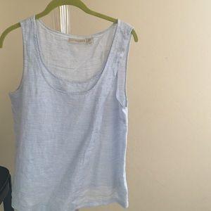 Kenar Tops - Linen light blue top