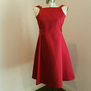 Us Angels Other - Formal red long satin dress 10 EUC