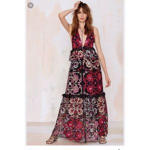 Nasty Gal Lola Embroidered Maxi Dress
