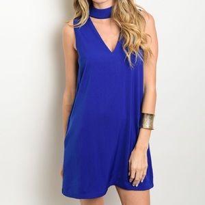 Very J Dresses & Skirts - *LAST ONE* New L blue choker dress