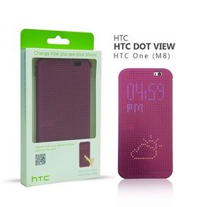 HTC Accessories - Ultra Slim DotView interactive Flip Case HTCOne M8