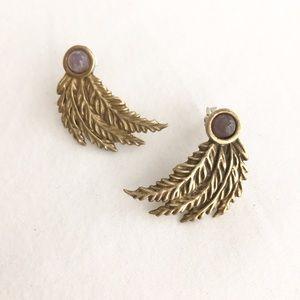Pamela Love Jewelry - Pamela Love Etched Feather Post Earrings