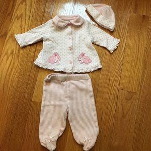 Little Me Other - 🐰🌷🐣SALE Newborn Girl Bunny Print Set