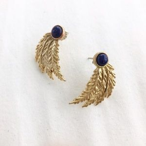 Pamela Love Jewelry - Pamela Love Blue Lapis Feather Earrings