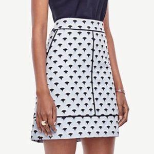 NWT Ann Taylor petite jacquard skirt