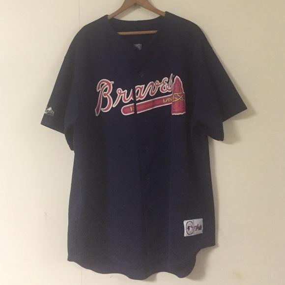 479f70ce Majestic Shirts | Vintage Javier Lopez Atlanta Braves Jersey Shirt ...