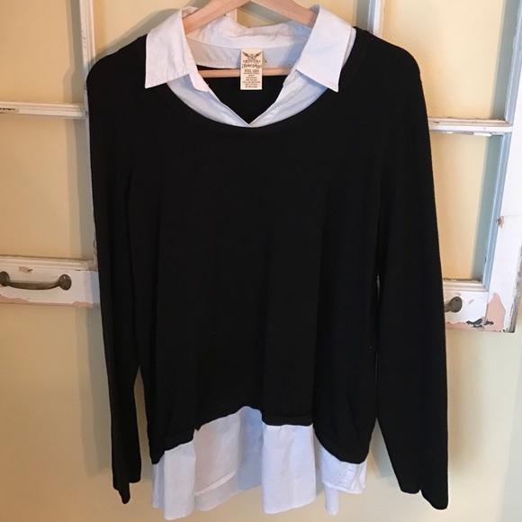 Faded Glory Sweaters Womens Sweater Blouse Combo Poshmark