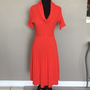 Catherine Malandrino Poppy Red Knit Dress NWT