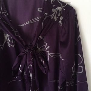 The Limited Tops - The Limited purple satin top.