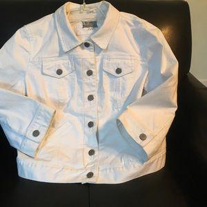 Loft Fashion Jackets & Blazers - White denim short jacket