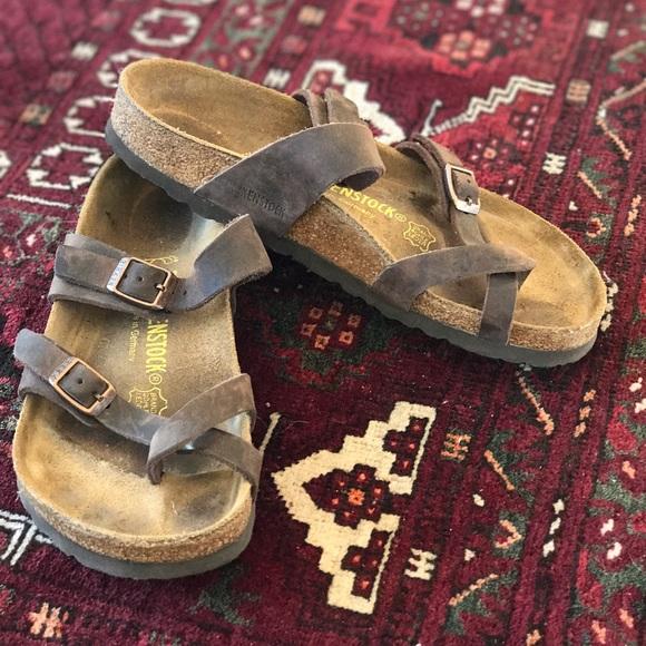 ad5547a39f3 Birkenstock Shoes - Birkenstock Mayari Oiled Leather Tobacco 37 EUC 🤗